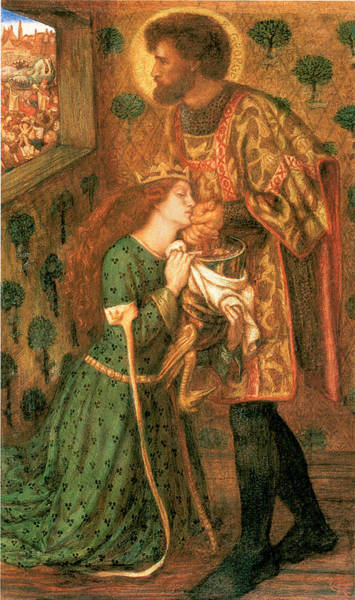 Gabriel Painting - St George And The Princess Sabra by Dante Gabriel Rossetti