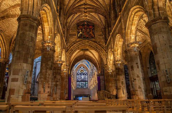 Photograph - St. Giles Interior by Brian Grzelewski