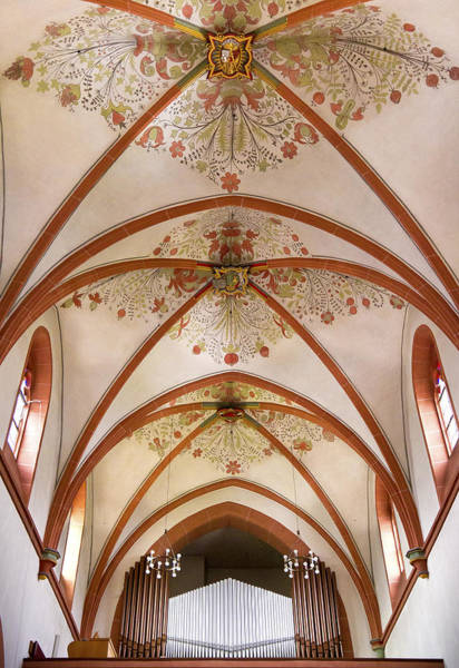 Photograph - St Goar Organ And Ceiling by Jenny Setchell