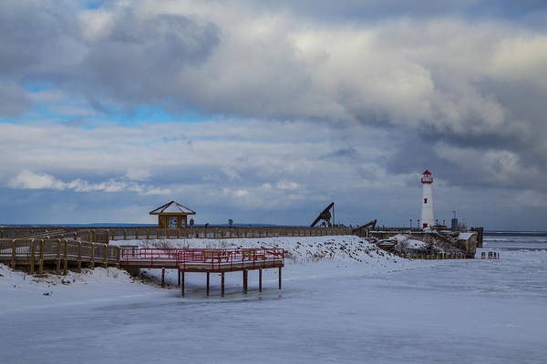 St Ignace Wall Art - Photograph - St Ignace Lighthouse In Winter by John McGraw