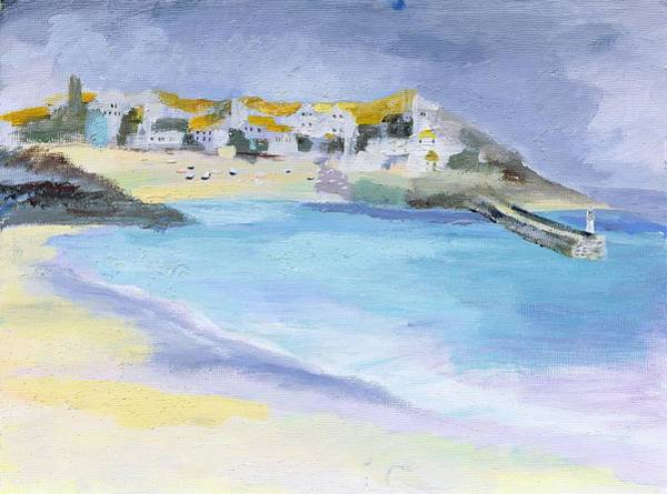 Elliot Bay Wall Art - Painting - St Ives, Cornwall by Sophia Elliot