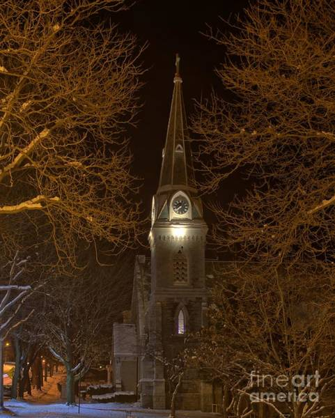 Photograph - St. James Episcopal Church Steeple by Rod Best