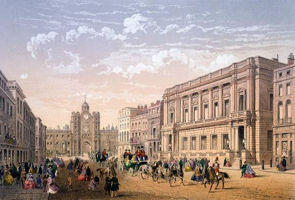 Traffic Drawing - St James Palace And Conservative Club by Achille-Louis Martinet