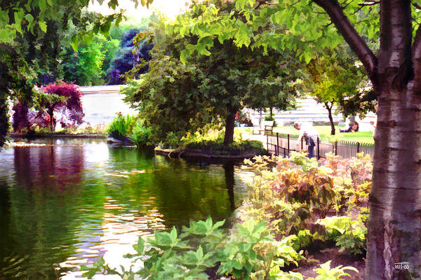 Digital Art - St James Park 1 by Helene U Taylor