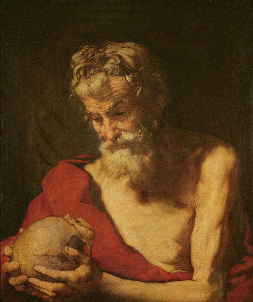 Hermit Wall Art - Photograph - St. Jerome Oil On Canvas by Jusepe de Ribera
