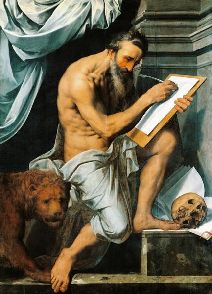 Idealistic Wall Art - Painting - St. Jerome by Willem Key