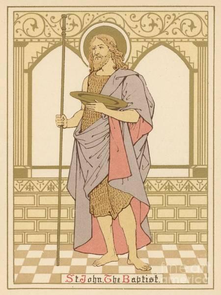 Wall Art - Painting - St John The Baptist by English School