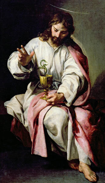 Turning Painting - St. John The Evangelist And The Poisoned Cup by Alonso Cano