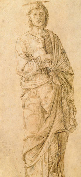 Full Length Drawing - Saint John The Evangelist by Italian School