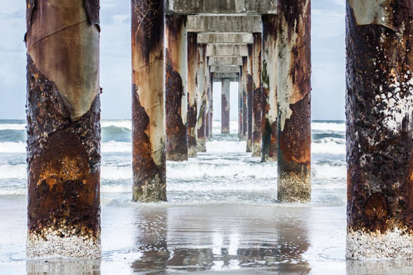 Oceanfront Photograph - St Johns County Ocean Pier In Saint Augustine Florida #2 by Parker Cunningham