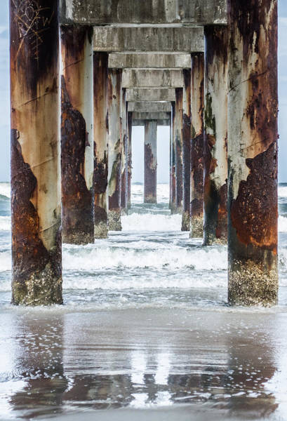 Oceanfront Photograph - St Johns County Ocean Pier In Saint Augustine Florida  by Parker Cunningham