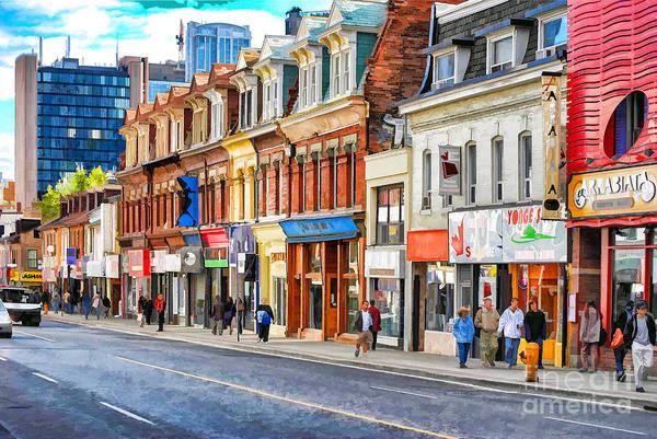 Digital Art - Yonge Street In Toronto by Les Palenik