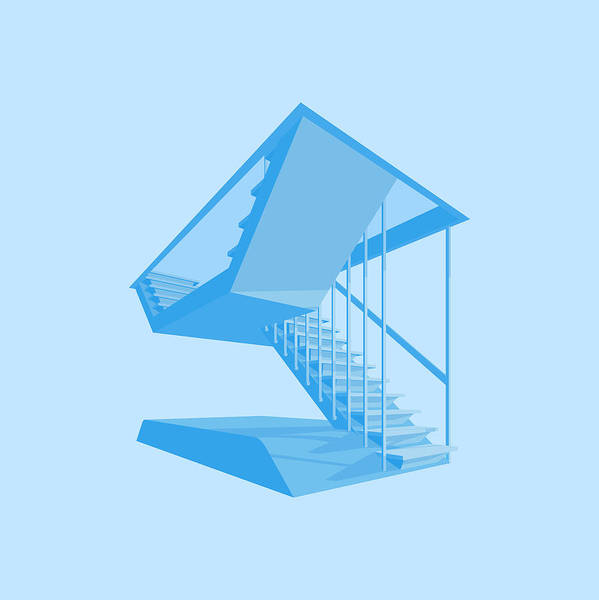 Wall Art - Digital Art - St John's Stairs by Peter Cassidy