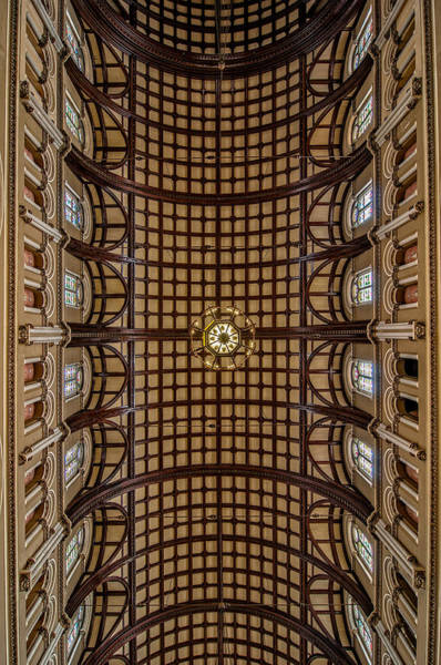 Photograph - St. Joseph Church Ceiling by Andy Crawford