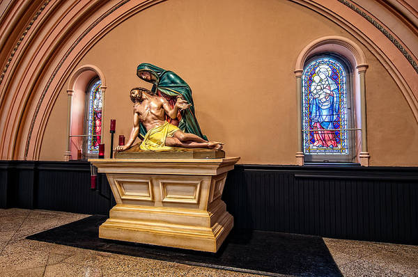 Photograph - St. Joseph Church Statuary by Andy Crawford