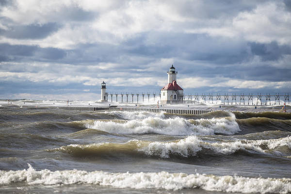 Wall Art - Photograph - St Joseph Lighthouse On Windy Day by John McGraw