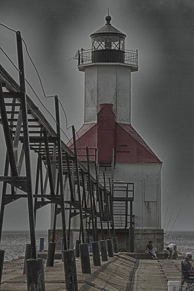 Photograph - St. Joseph North Pier Lighthouse Lake Michigan by Jack R Perry