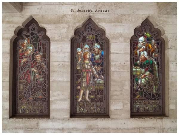 St Josephs Arcade - The Mission Inn Art Print
