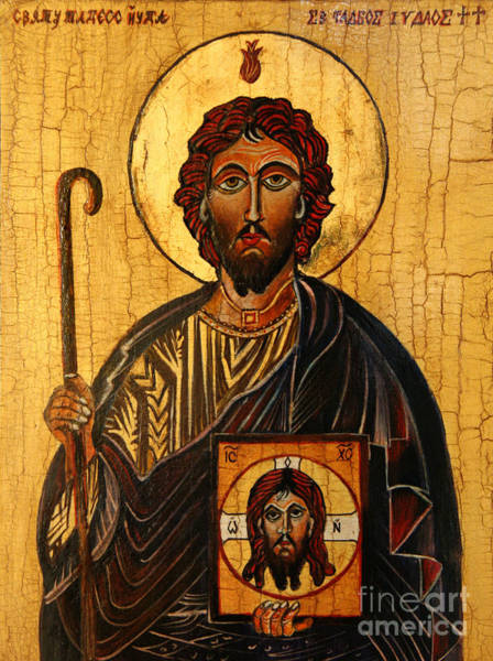 Apostles Wall Art - Painting - St. Jude The Apostle by Ryszard Sleczka