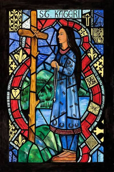 Wall Art - Painting - St. Kateri by Chrissey Dittus
