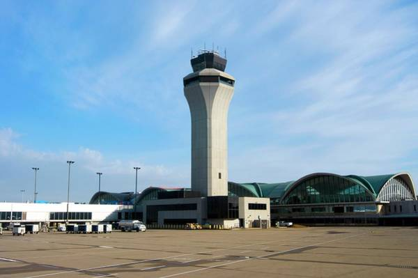 Taxiway Wall Art - Photograph - St. Louis Airport by Mark Williamson
