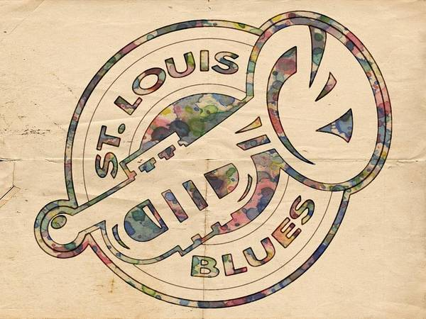 Painting - St Louis Blues Retro Poster by Florian Rodarte