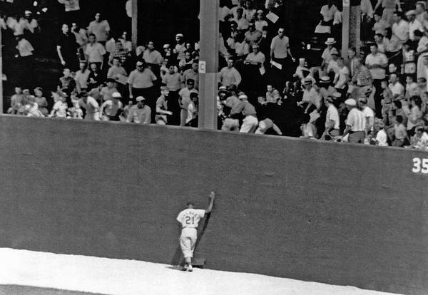 Playing Field Photograph - St. Louis Cardinal Curt Flood by Underwood Archives