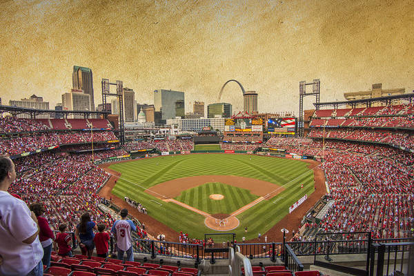 Mississippi River Photograph - St. Louis Cardinals Busch Stadium Texture 9252 by David Haskett II