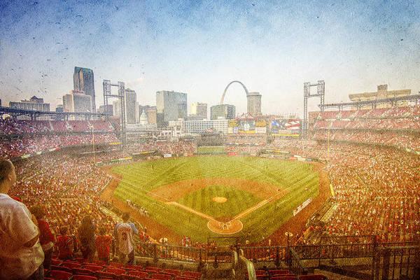 Photograph - St. Louis Cardinals Busch Stadium Texture by David Haskett II