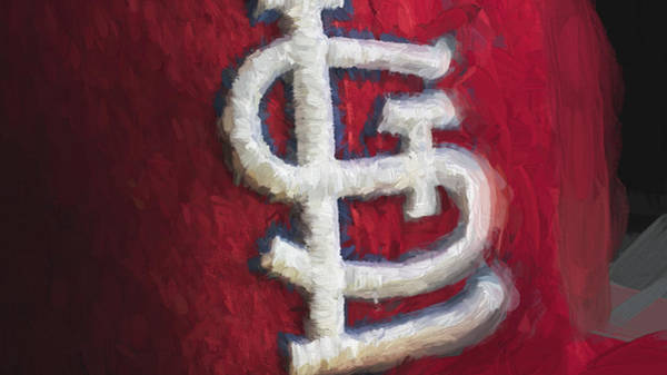 Photograph - St. Louis Cardinals Red Paint by David Haskett II