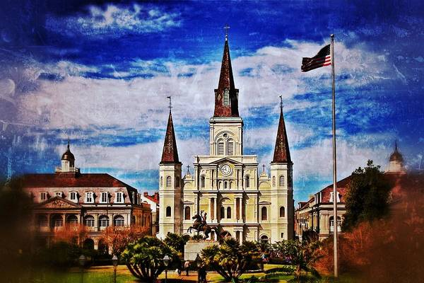 Photograph - St. Louis Cathedral 2 by Jim Albritton