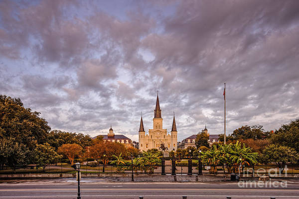 Cabildo Wall Art - Photograph - St. Louis Cathedral And Jackson Square - French Quarter - New Orleans Louisiana by Silvio Ligutti