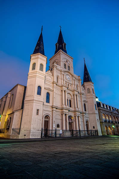 Photograph - St. Louis Cathedral At Twilight by Andy Crawford