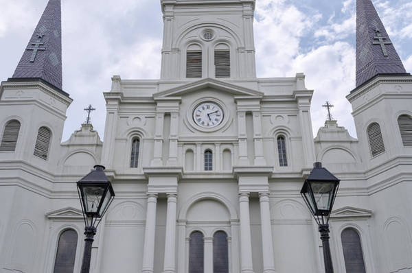 Photograph - St. Louis Cathedral Close-up by Jim Shackett
