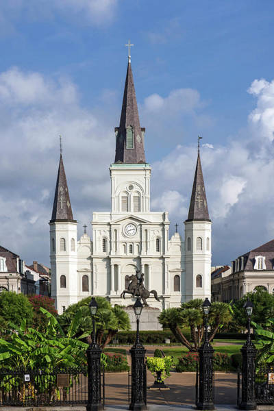Louisiana Photograph - St. Louis Cathedral In Jackson Square by Amritendu Maji