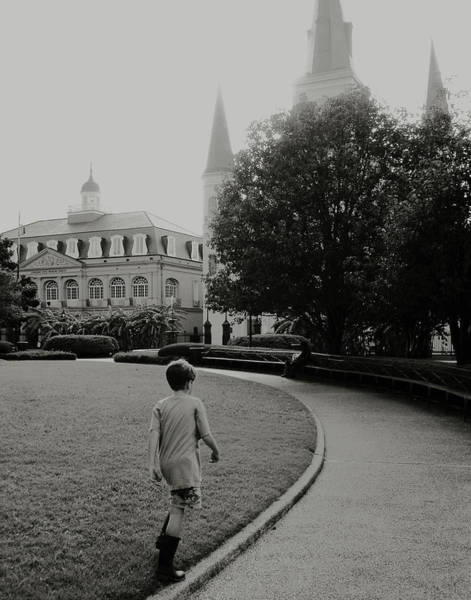 Photograph - St. Louis Cathedral In New Orleans by Louis Maistros