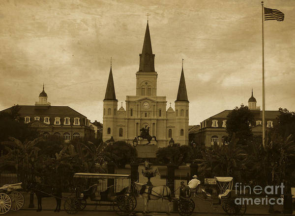 Photograph - St Louis Cathedral - New Orleans  by Andrea Anderegg