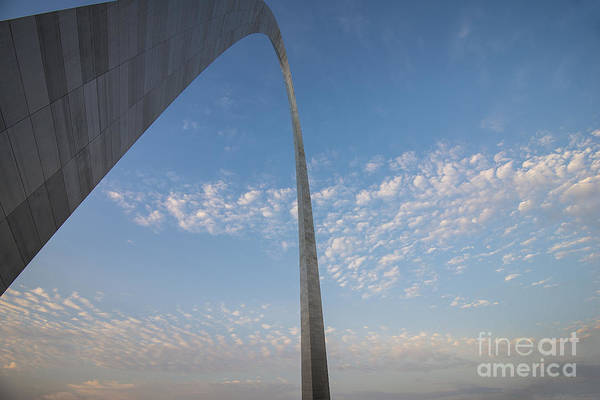 Photograph - St. Louis Gateway Arch Angular by David Haskett II
