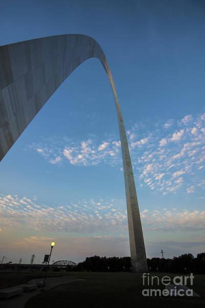 Photograph - St. Louis Gateway Arch Sunrise 30 by David Haskett II