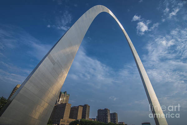 City Of David Photograph - St. Louis Gateway Arch Sunrise by David Haskett II