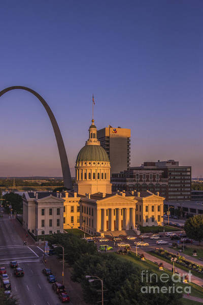 Photograph - St. Louis Gateway Arch Sunset 2013 by David Haskett II