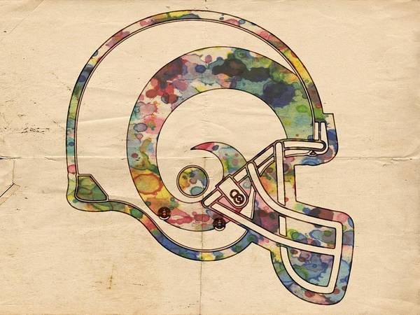 Painting - St Louis Rams Helmet Art by Florian Rodarte