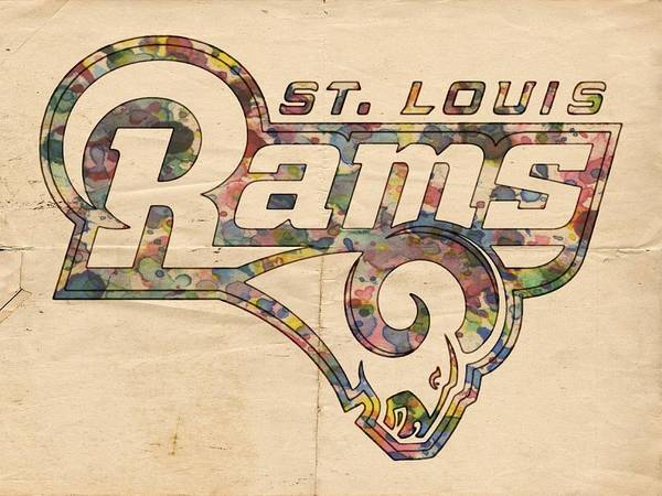 Painting - St Louis Rams Logo Art by Florian Rodarte
