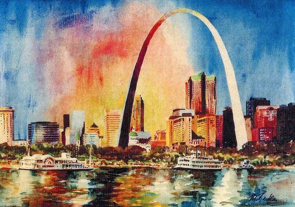 Courthouse Painting - St Louis Riverfront 99 by Marilynne Bradley