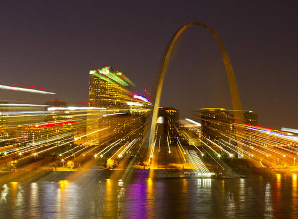 Fx Photograph - St Louis Skyline With Special Zoom Effect by Garry McMichael