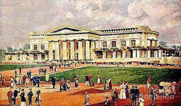 Louisiana Purchase Painting - St. Louis World's Fair Temple 1904 by Dwight Goss