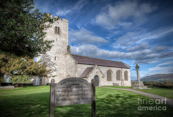 Grave Yard Photograph - St Marcella's Church by Adrian Evans