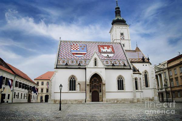 Wall Art - Pyrography - St. Mark's Church by Jelena Jovanovic
