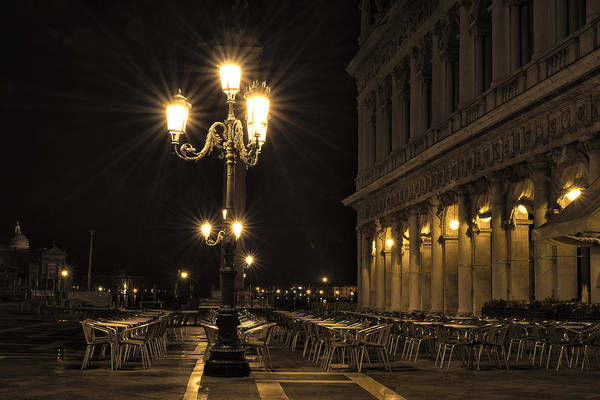 Wall Art - Photograph - St Mark's Square At Night by Marion Galt