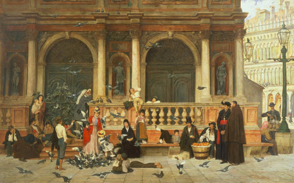 Poor Wall Art - Painting - St. Marks, Venice by Adolf Echtler